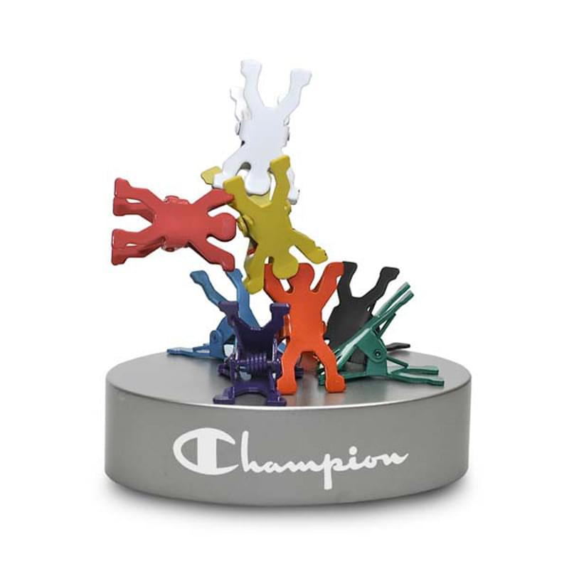 Acrobat Colorful People Shaped Clips on Magnetic Base
