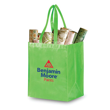 Pearl Finish Grocery Bag 2 laminated Non-Woven 14 x 12 x 8.5