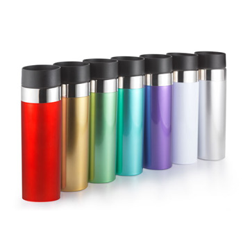 14 Oz. Bio Venti Tumbler double wall tumbler with metallic coated finish