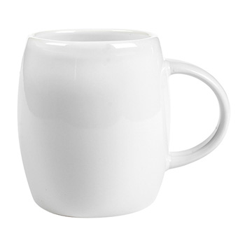 14 Oz. White Ceramic Rotunda Mug