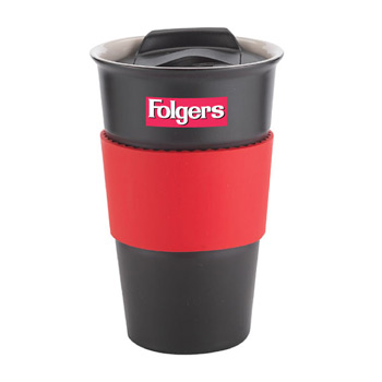 12 Oz. Java Single Wall Black Tumbler