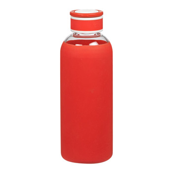 Krave - 20 oz. shatter resistant glass bottle with silicone sleeve