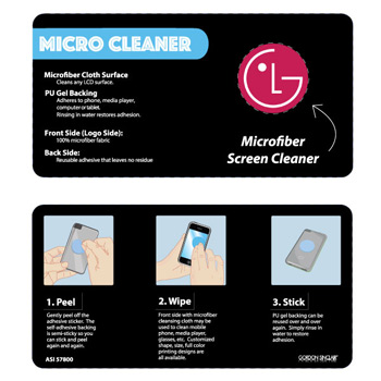 Micro Cleaner with adhesive back for smartphone