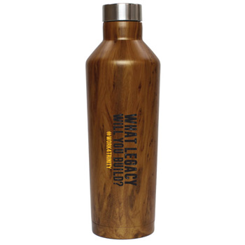 Riviera 16 Oz. Wood Finish Vacuum Sealed Stainless Steel Bottle - WOOD