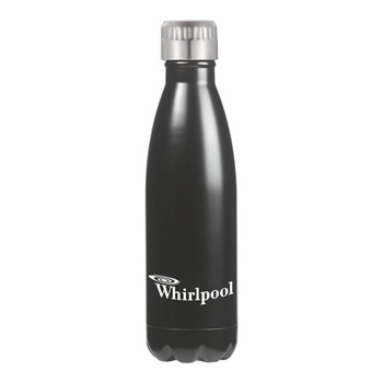 Serendipity 17 Oz. Vacuum Sealed Stainless Steel Bottle - silver, white, black