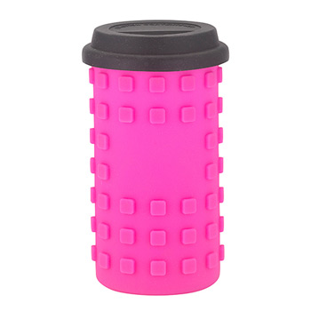 Sili Moody Plastic 24 oz. plastic tumbler with silicone sleeve and face options