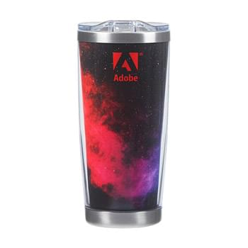 20 oz. Luna double wall acrylic tumbler with stainless liner with 4 color process paper insert