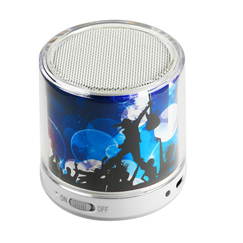 Bongo Beats Portable Round Bluetooth Speaker full color