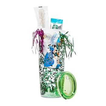 The Real Deal Party Gift Set w/20 Oz. Tumbler & Confetti Insert