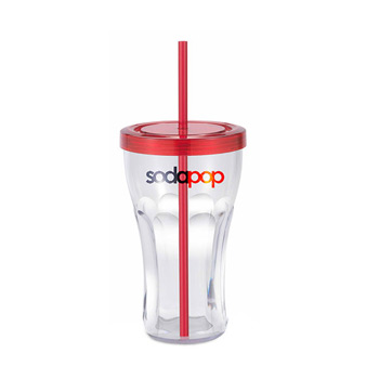 Soda Fountain Tumbler 22 oz Clear Single wall
