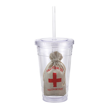 16 Oz. Double Wall Tumbler w/ Hangover Kit