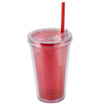 16 Oz. Sip n' Straw Double Wall Tumbler