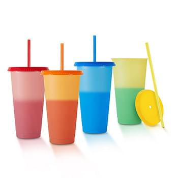 Chameleon 24 Oz Color Changing Tumbler w/Reusable Lid and Straw