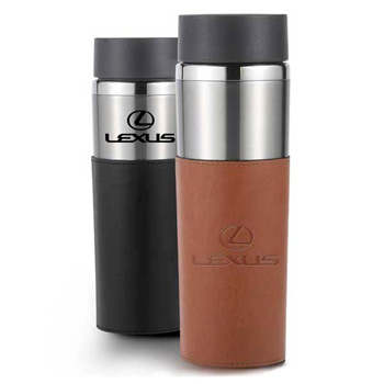 Astor - 14 oz double wall stainless tumbler with sleeve